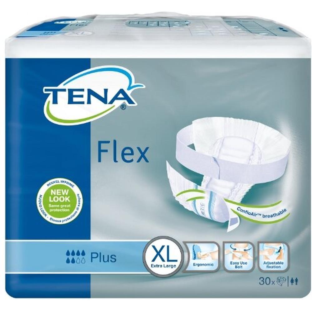 TENA Подгузники для взрослых Flex Plus, XL (30 шт.)