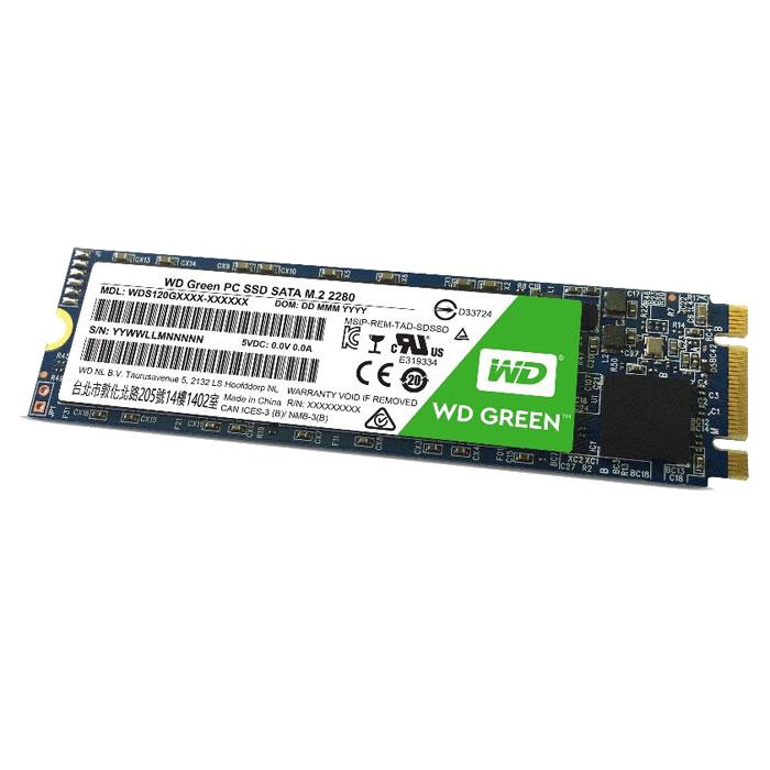 Внутренний SSD-накопитель 120Gb Western Digital Green (WDS120G2G0B) M.2 2280 SATA3 ssd накопитель western digital ssd m 2 120gb wds120g2g0b