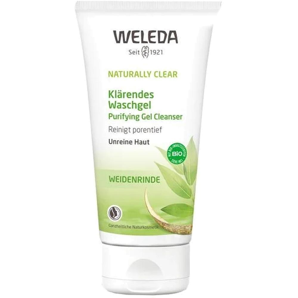 weleda naturally clear purifying gel cleanser Weleda очищающий гель для умывания Naturally Clear, 100 мл.