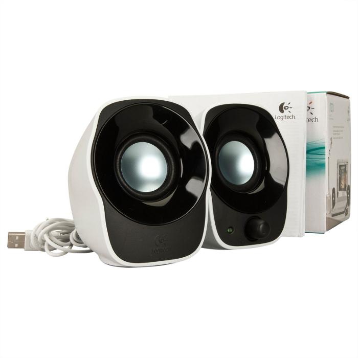2.0 Колонки Logitech Z120 2*0.6W White USB 980-000513 недорого