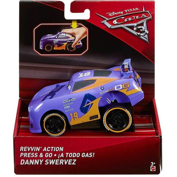 Машинка Mattel Cars с автоподзаводом danny swervez DVD31 mattel машинка cars пол лошсил меняет цвет