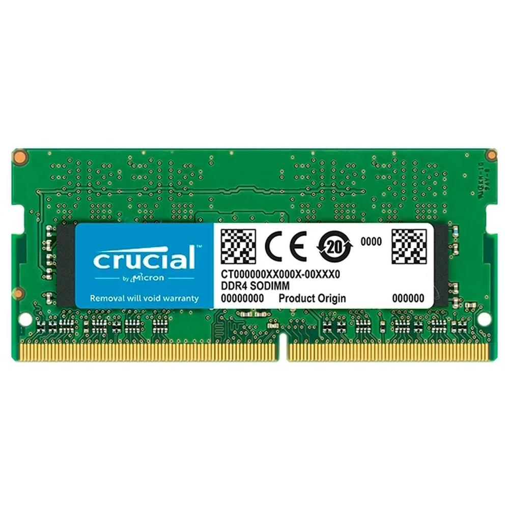 Фото - Модуль памяти SO-DIMM DDR4 4Gb PC21300 2666Mhz Crucial (CT4G4SFS8266) модуль памяти so dimm ddr4 4gb pc21300 2666mhz crucial ct4g4sfs8266