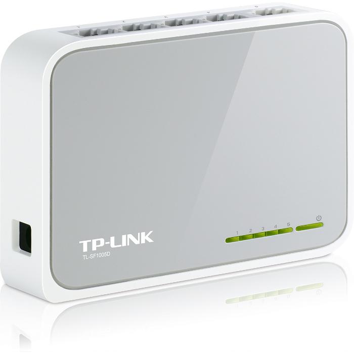 Коммутатор TP-LINK TL-SF1005D неуправляемый 5 портов 10/100Мбит/с