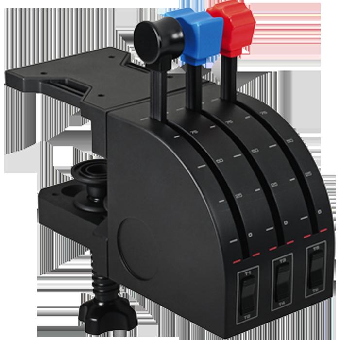 Приборная панель Logitech G Saitek Pro Flight Throttle Quadrant Блок рычагов для авиасимуляторов