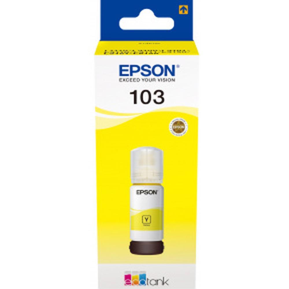 Фото - Чернила EPSON 103Y Yellow для L3100/L3110/L3150 65мл C13T00S44A мфу epson l3150 черный