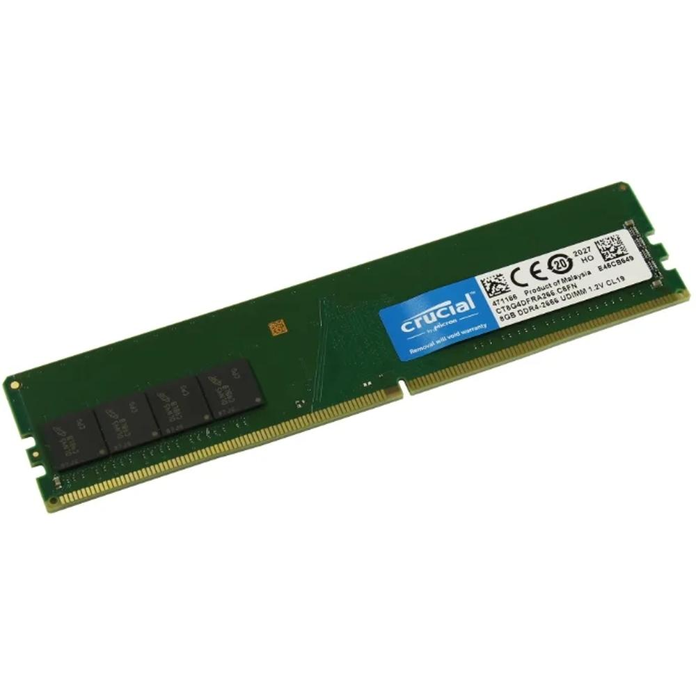 Фото - Модуль памяти DIMM 8Gb DDR4 PC21300 2666MHz Crucial (CT8G4DFRA266) модуль памяти so dimm ddr4 4gb pc21300 2666mhz crucial ct4g4sfs8266