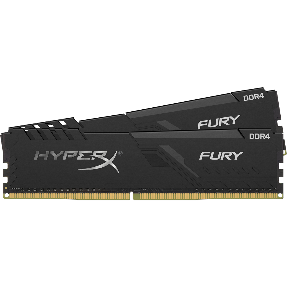 Модуль памяти DIMM 8Gb 2х4Gb DDR4 PC21300 2666MHz Kingston HyperX Fury Black Series (HX426C16FB3K2/8)