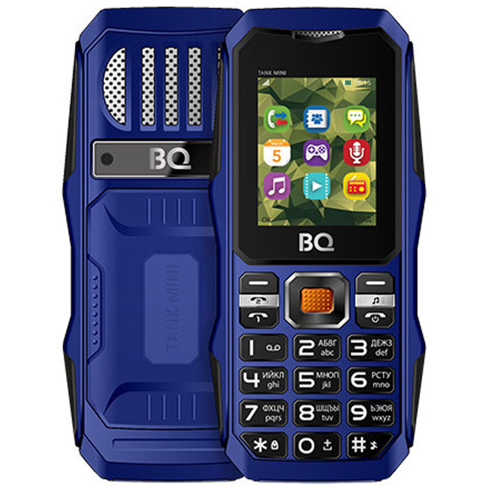 Мобильный телефон BQ Mobile BQ-1842 Tank mini Dark Blue мобильный телефон bq elegant 3595 серый