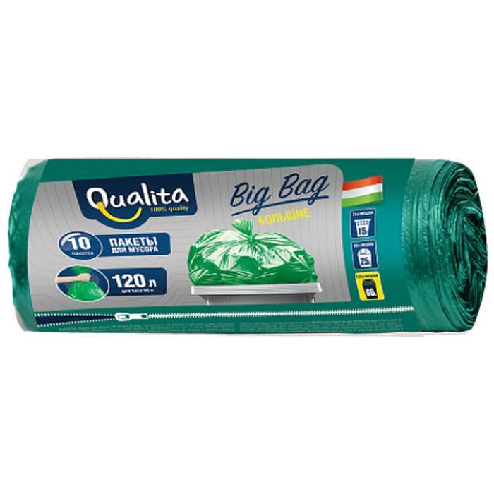 Фото - Мешки для мусора Qualita Big bag 120 л (10 шт.) мешки для мусора спринт пласт 120 л 10 шт