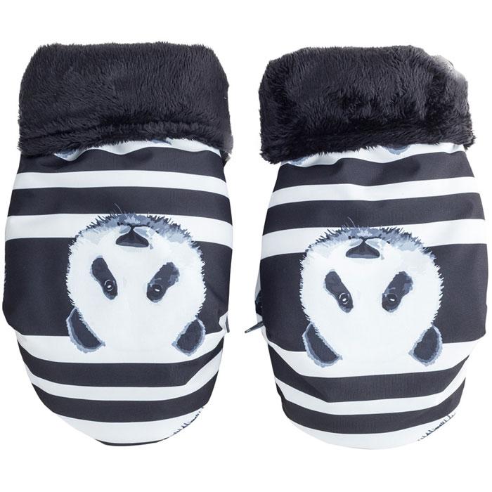 Муфта для рук Mammie варежки мембранные, цвет панды комплект зимний конверт mammie с мехом вельбоа муфта на ручку коляски варежки цвет серый