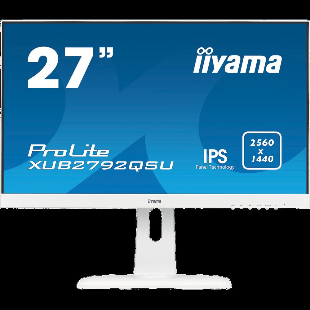 Монитор 27 Iiyama ProLite XUB2792QSU-W1 IPS 2560x1440 5ms DVI-D, HDMI, DisplayPort монитор 27 dell up2716d ips 2560x1440 6ms hdmi displayport mini displayport