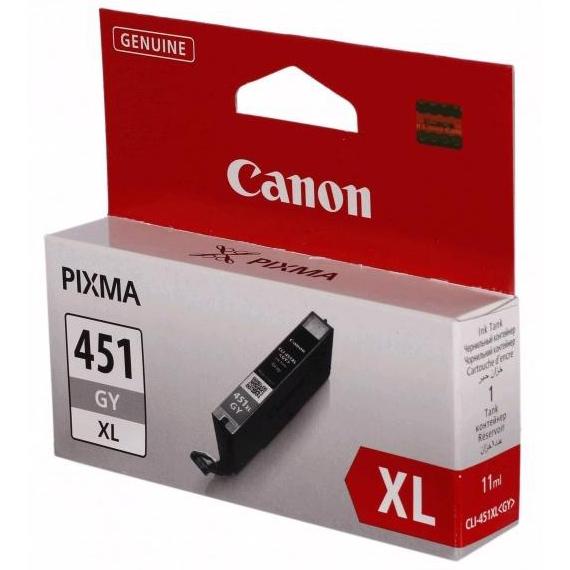 Фото - Картридж Canon CLI-451GY XL Gray для Pixma iP7240/MG6340/5440 картридж canon cli 451xlm 6474b001 для canon pixma ip7240 mg6340 mg5440 пурпурный
