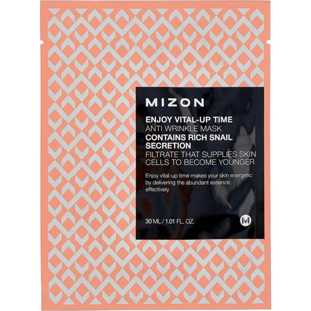 MIZON Маска листовая для лица антивозрастная Enjoy Vital Up Time Anti Wrinkle Mask , 30 мл. недорого