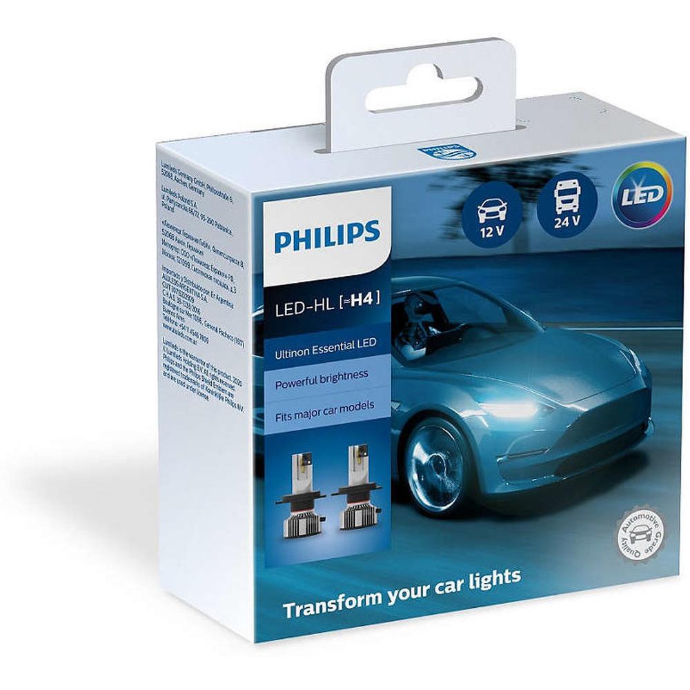 Фото - Автомобильная лампа Philips 11342UE2X2 H4 6500K Ultinon Essential LED 2 шт. лампа автомобильная светодиодная philips ultinon led 11972ulwx2 led hl [h7] 14w 2 шт