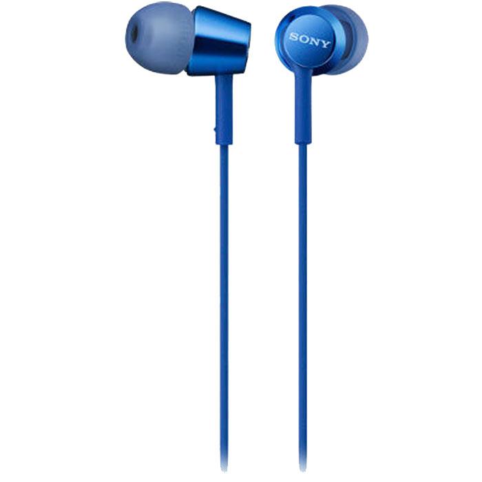 Гарнитура Sony MDR-EX155AP синяя гарнитура sony mdr ex155ap синяя