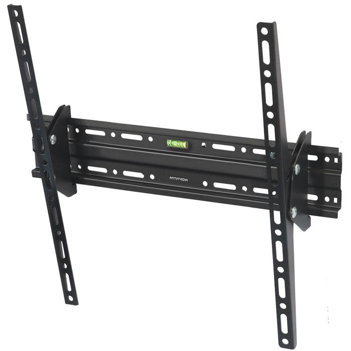 Фото - Кронштейн наклонный ARM Media PLASMA-4 new 26-55' до 50кг Vesa до 400x400 кронштейн фиксированный arm media steel 3 new 22 65 до 50кг vesa до 400x400