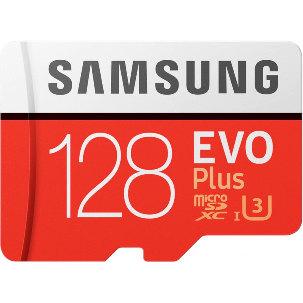 Фото - Карта памяти Micro SecureDigital 128Gb SDXC Samsung Evo Plus class10 UHS-I U3 (MB-MC128HA/RU) + адаптер SD видео