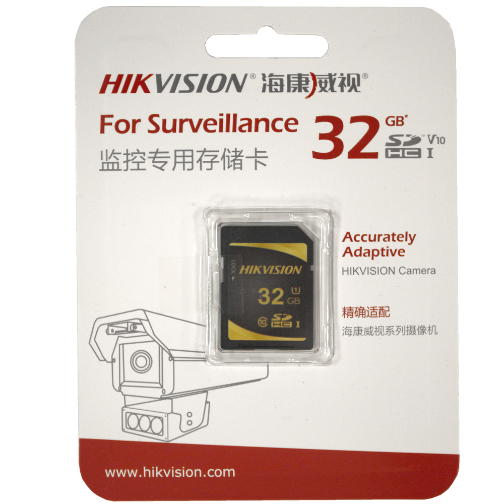 Карта памяти SecureDigital 32Gb Hikvision SDHC Class10 U1 (HS-SD-P10/32G)
