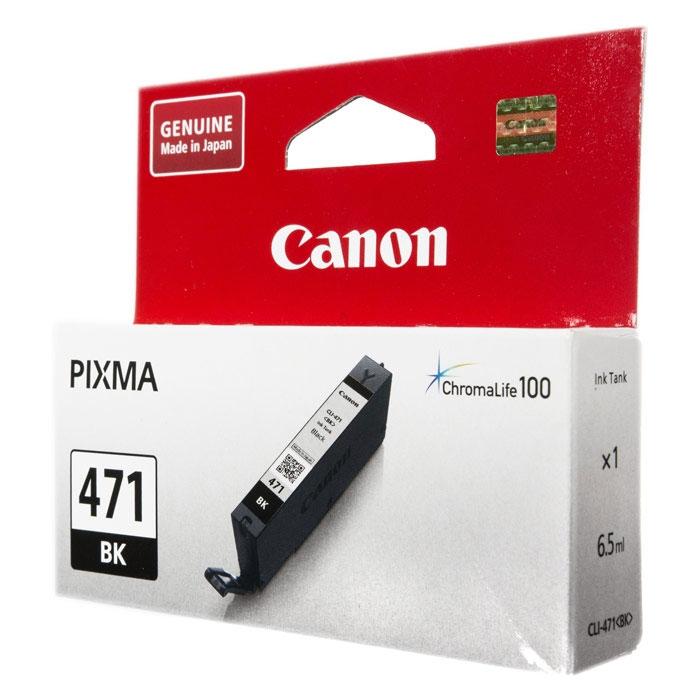 Фото - Картридж Canon CLI-471 BK для MG5740, MG6840, MG7740. Чёрный. 398 страниц. картридж canon 057 для mf449x mf446x mf445dw mf443dw lbp225x lbp226dw lbp223dw чёрный 3100 страниц