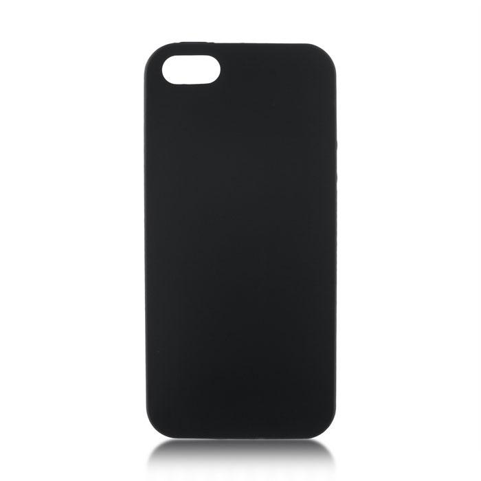 Чехол для iPhone 5\5S\SE Brosco Colourful, накладка, черный чехол для iphone 5 iphone 5s iphone se brosco soft rubber накладка черный