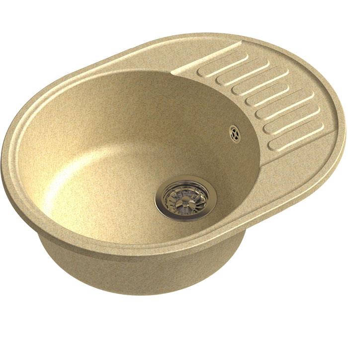 Кухонная мойка GranFest Quarz GF-Z58 чаша с крылом 620*480мм бежевый кухонная мойка granfest quarz gf z58 чаша с крылом 620 480мм бежевый
