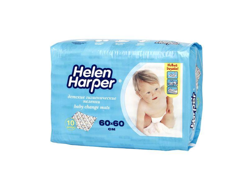 Детские одноразовые пеленки Helen Harper 60*60 см (10 шт) helen harper пеленки helen harper baby детские впитывающие 60 90 10шт