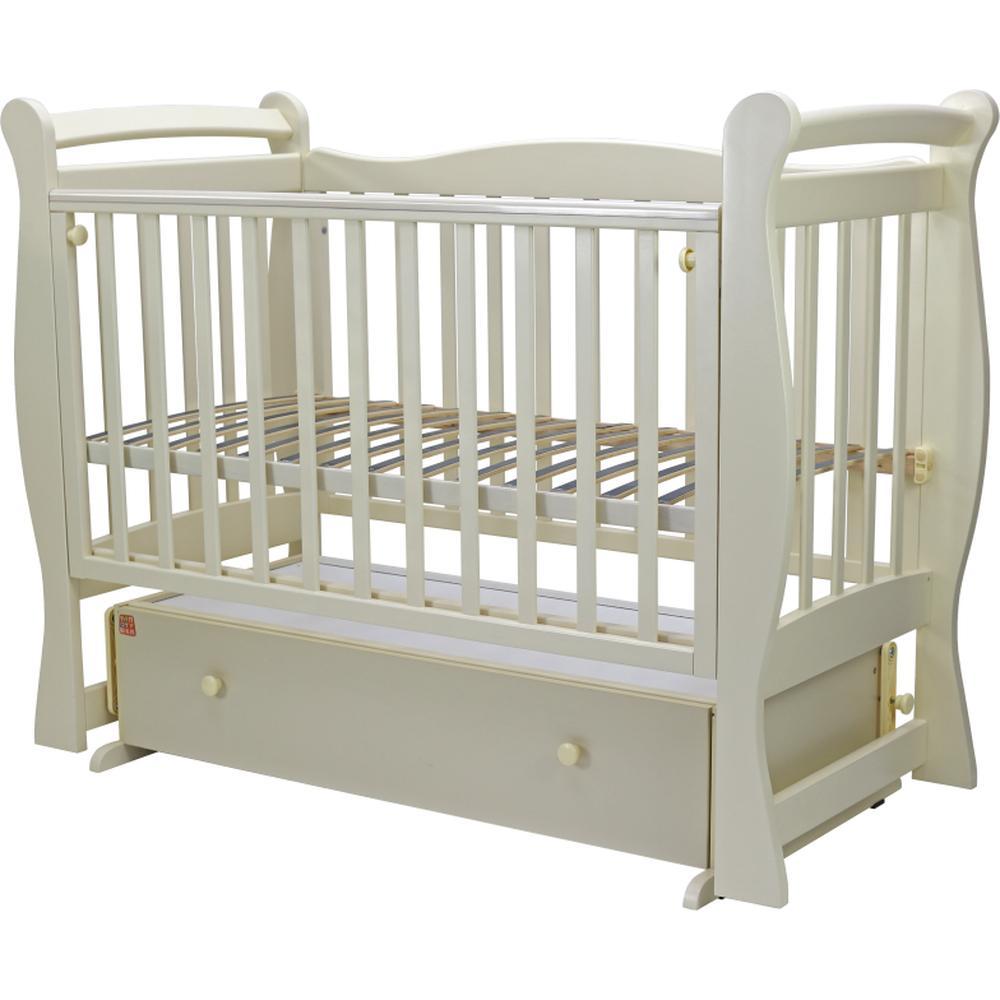 Детская кроватка Топотушки 120*60 ВАЛЕНСИЯ-6 (арт.38) маятн/ящ (слоновая кость)