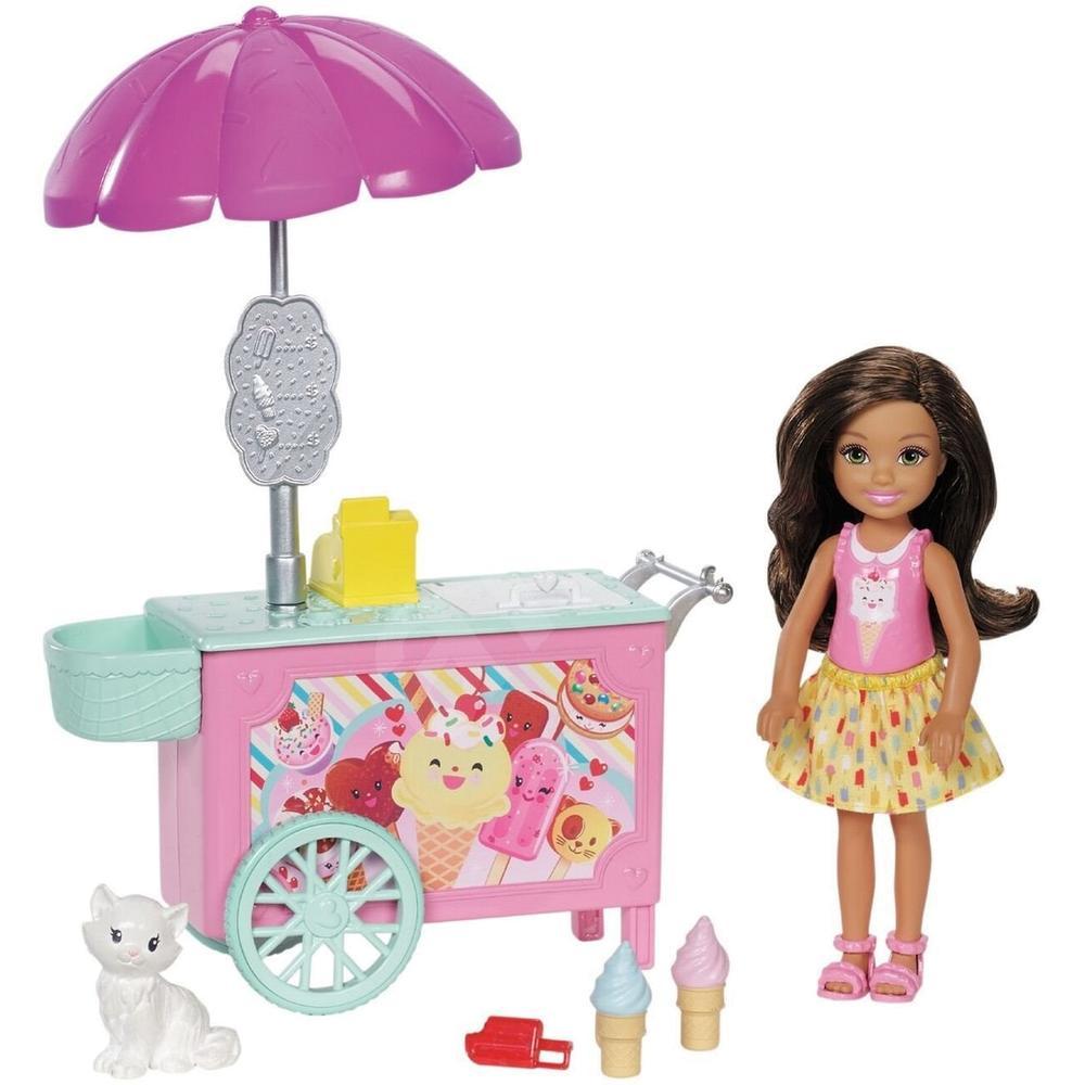Mattel Barbie Челси FDB32/FDB33 с тележкой мороженого