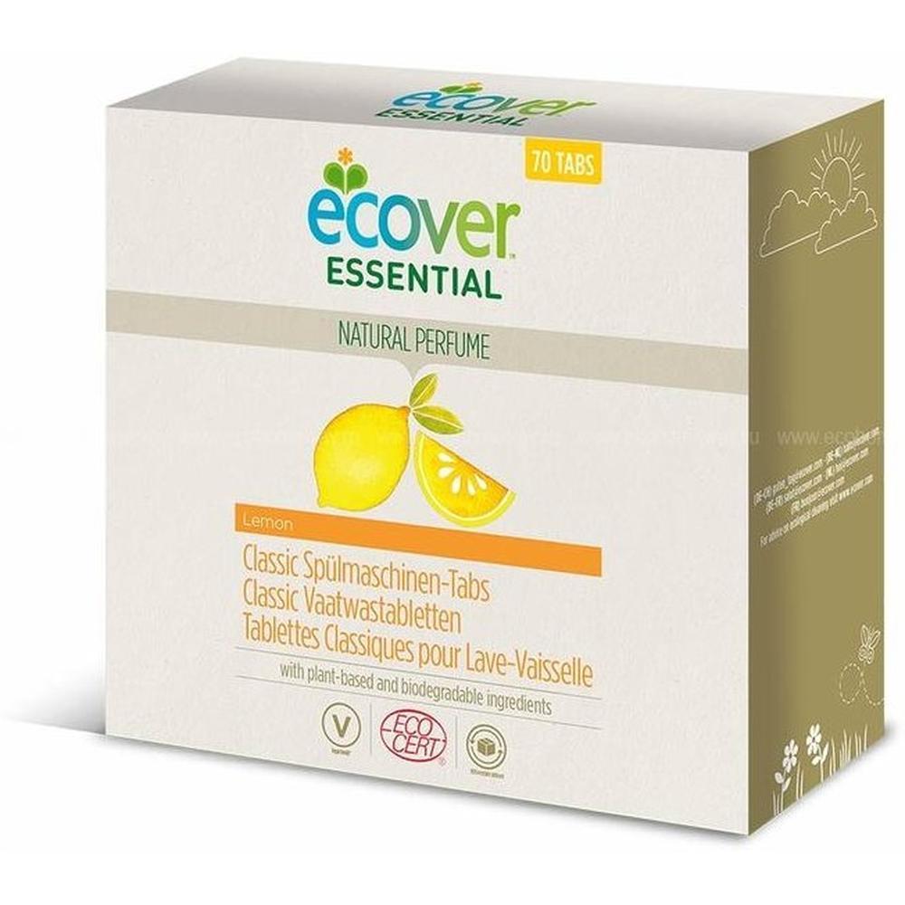 бытовая химия ecover таблетки для посудомоечной машины 3 в 1 0 5 кг Ecover Essential таблетки (лимон) для посудомоечной машины, 70 шт.
