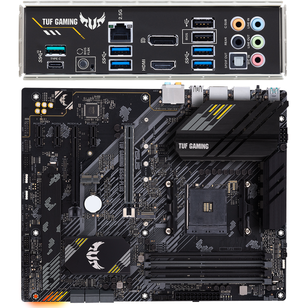 Фото - Материнская плата ASUS TUF Gaming B550-Plus B550 Socket AM4 4xDDR4, 6xSATA3, RAID, 2xM.2, 2xPCI-E16x, 5xUSB3.2, 1xUSB3.2 Type C, DP, HDMI, 2.5Glan, ATX материнская плата asus tuf gaming b550 plus