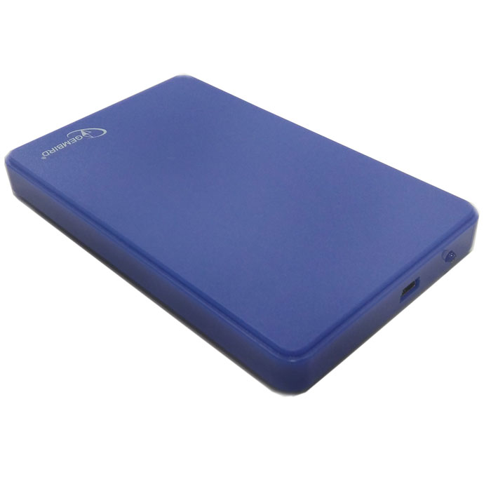 Фото - Корпус 2.5 Gembird EE2-U2S-40P-B, SATA-USB2.0 Blue корпус 2 5 gembird ee2 u3s 60 sata usb3 0 black