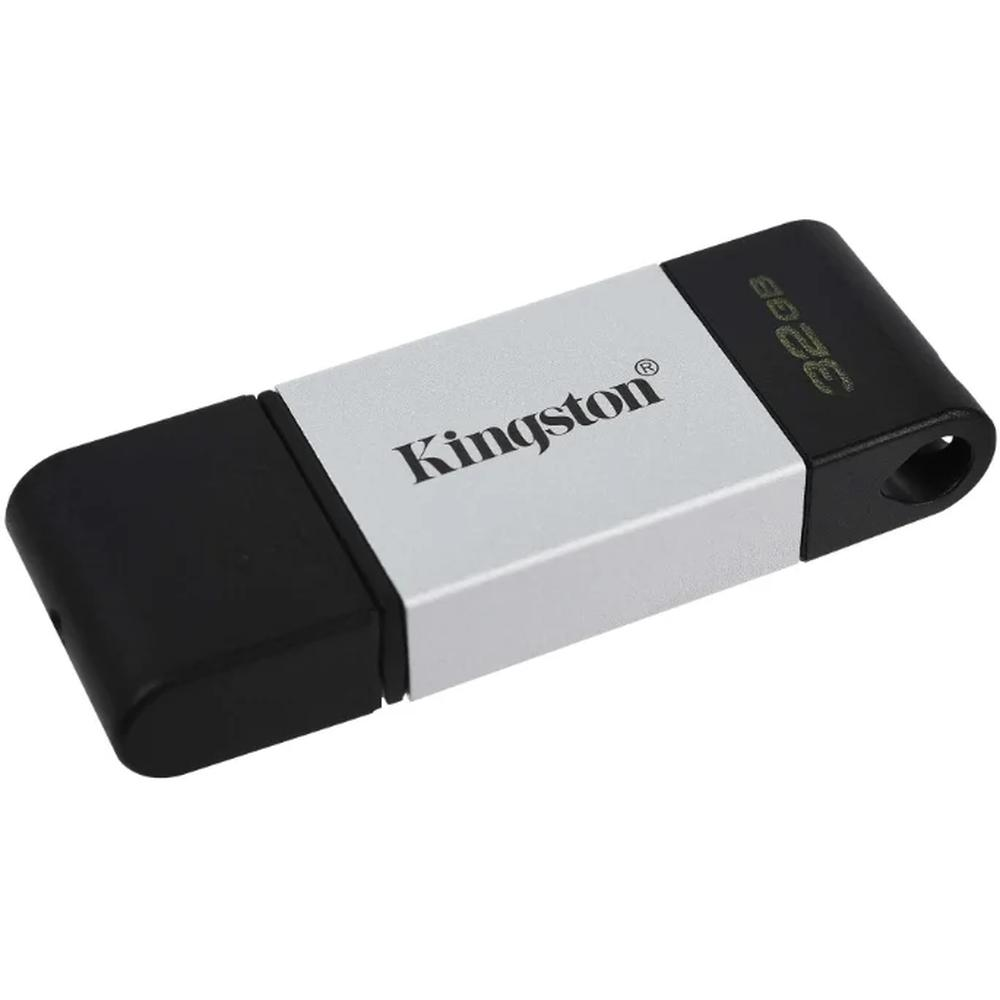 Фото - USB Flash накопитель 32GB Kingston DataTraveler 80 (DT80/32GB) USB Type C Черный usb flash накопитель 128gb kingston datatraveler 70 dt70 128gb usb type c черный