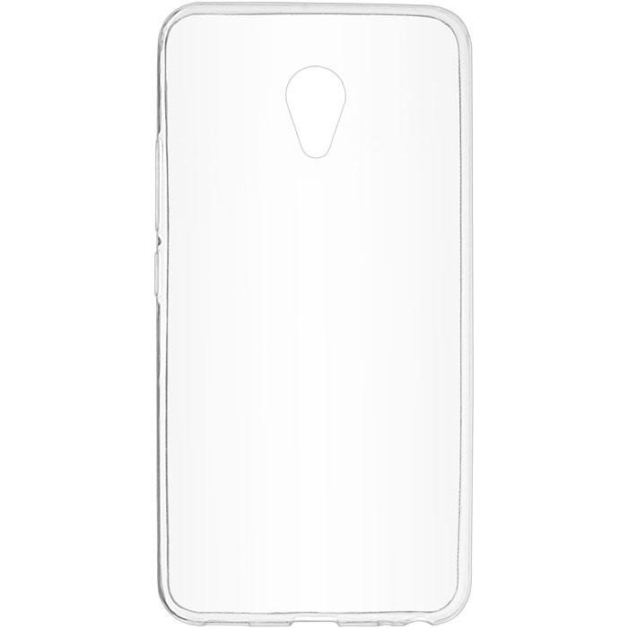 Чехол для Meizu M5 SkinBox 4People slim silicone, прозрачный
