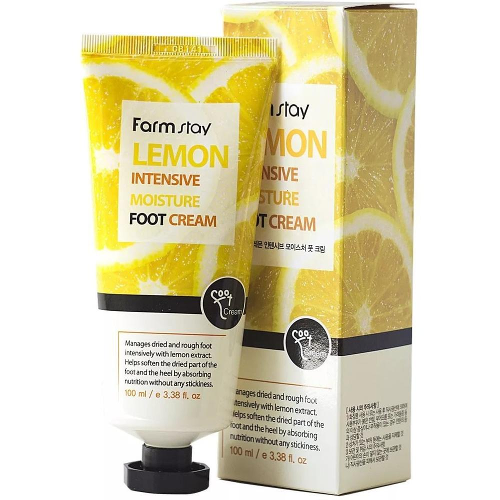 FarmStay Увлажняющий крем для ног с экстрактом лимона Lemon Intensive Moisture Foot Cream , 100 мл.