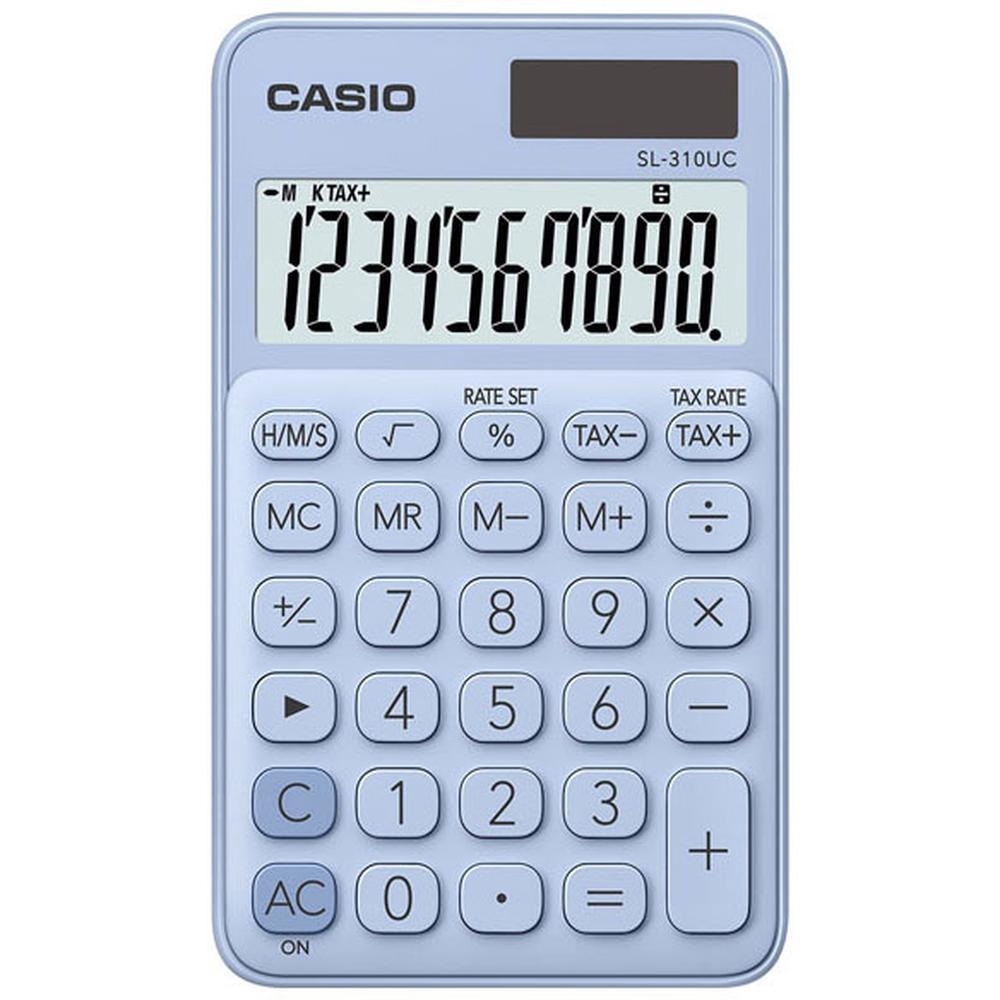 Калькулятор Casio SL-310UC-LB-S-EC светло-голубой 10-разр.