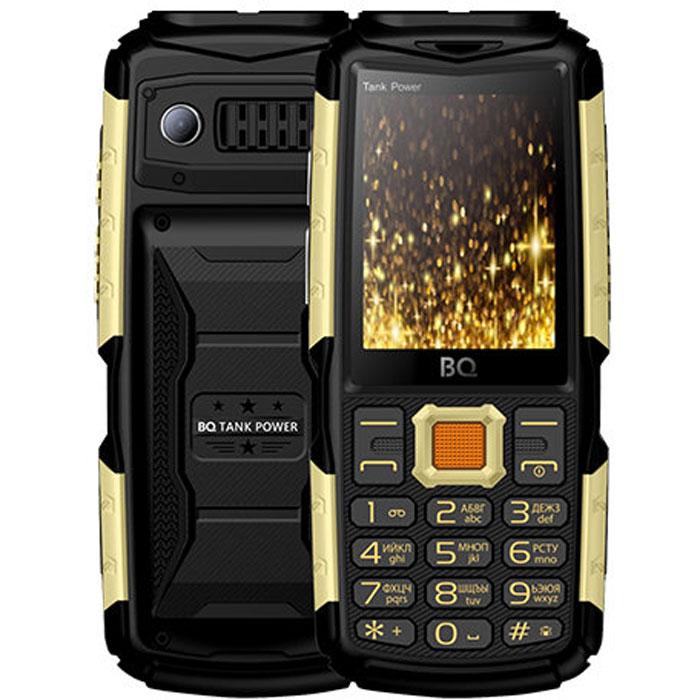 Мобильный телефон BQ Mobile BQ-2430 Tank Power Black/Gold мобильный телефон bq mobile bq 2817 tank quattro power black
