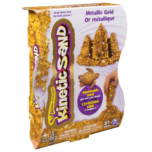 Kinetic Sand Металлик 455 гр (золотой) 71408-0023