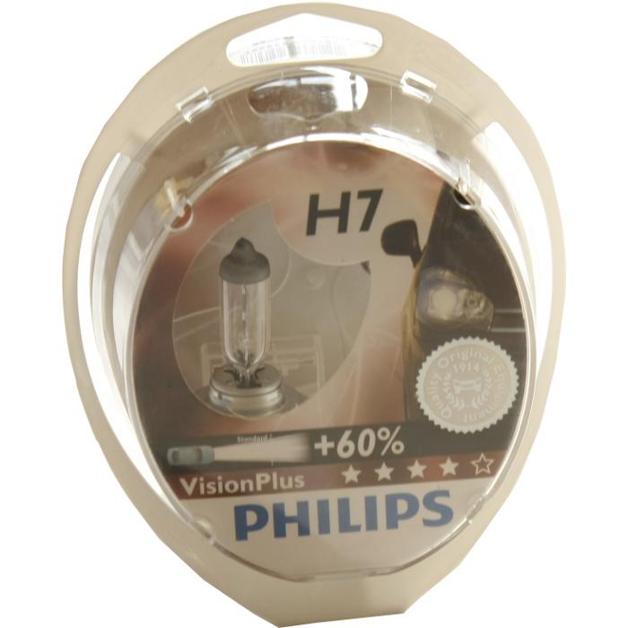 Автомобильная лампа H7 55W Blue Vision Plus 2 шт. Philips