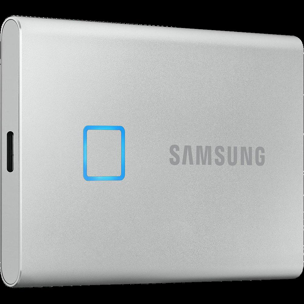 Внешний SSD-накопитель 1.8 1000Gb Samsung T7 Touch MU-PC1T0S/WW (SSD) USB 3.2 Type C Серебристый