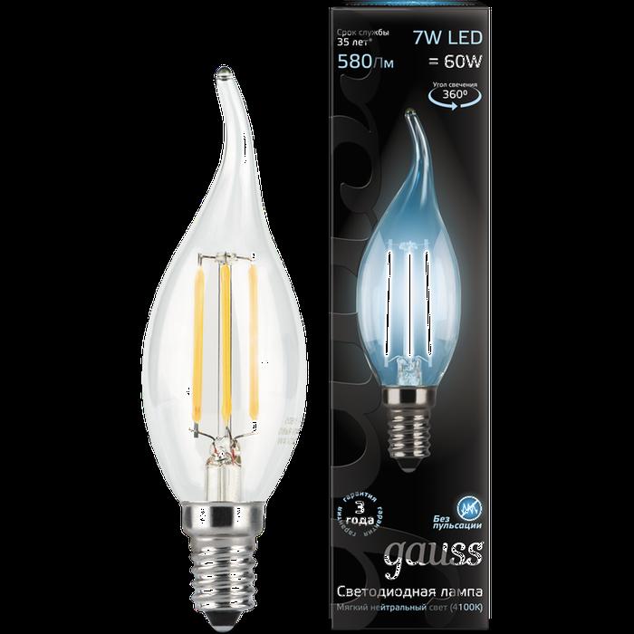Фото - Упаковка светодиодных ламп Gauss Black Filament LED Candle Tailed E14 7W 4100K 104801207 x10 gauss led filament candle tailed e14 7w 4100к 1 10 50