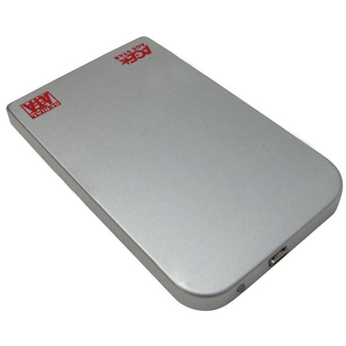 Фото - Корпус 2.5 AgeStar SUB2O1, SATA-USB2.0 silver корпус 2 5 agestar 3ub2a8 6g sata usb3 0 silver