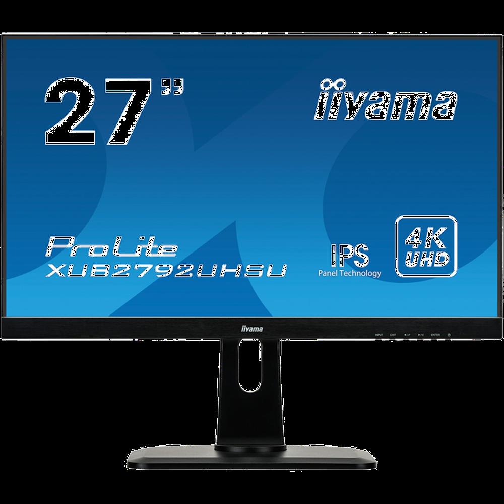 Монитор 27 Iiyama ProLite XUB2792UHSU-B1 IPS 3840x2160 4ms DVI-D, HDMI, DisplayPort монитор 32 aoc u3277fwq mva 3840x2160 4ms dvi d hdmi displayport vga