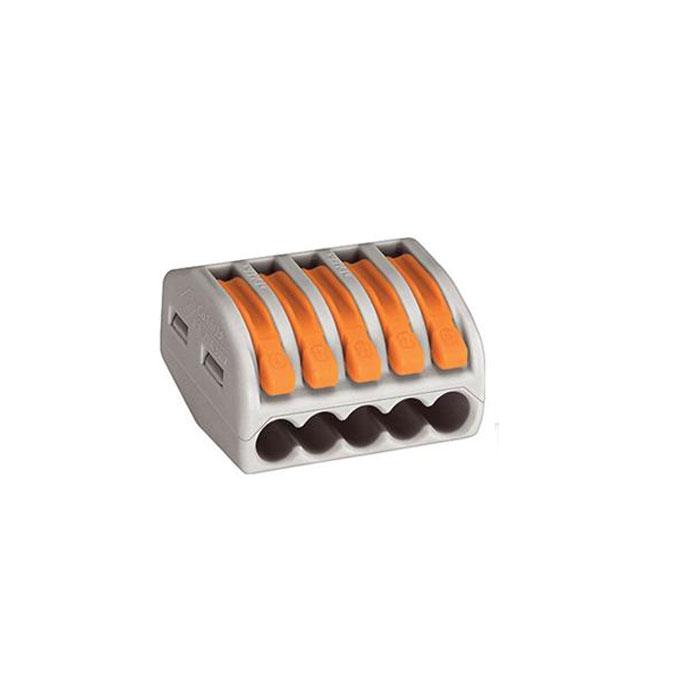 Соединительная клемма Wago 222-415 5-проводная для медных проводов, сечение до 4 мм2
