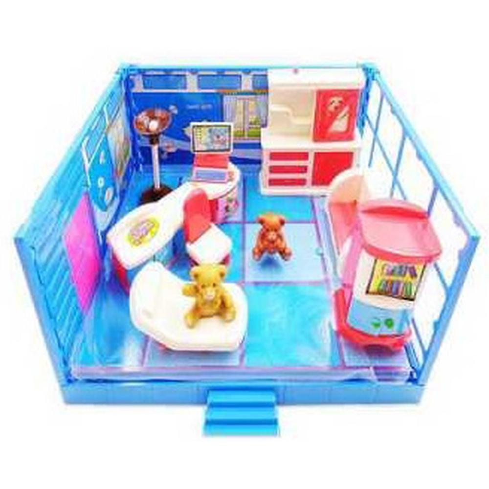 ABtoys Счастливые друзья. Модульная комната, в наборе с мебелью и фигурками животных, 12 пр. PT-00913 набор мебели счастливые друзья для кухни с аксесс abtoys