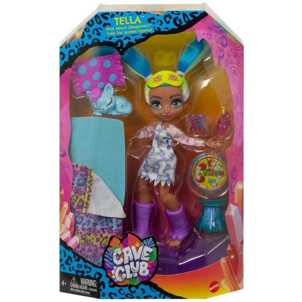 Фото - Кукла Mattel Cave Club® Телла Пижамная вечеринка GTH06 кукла mattel cave club® роралай пижамная вечеринка gth01