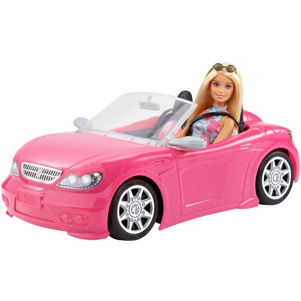 Mattel Barbie Кукла и розовый кабриолет FPR57