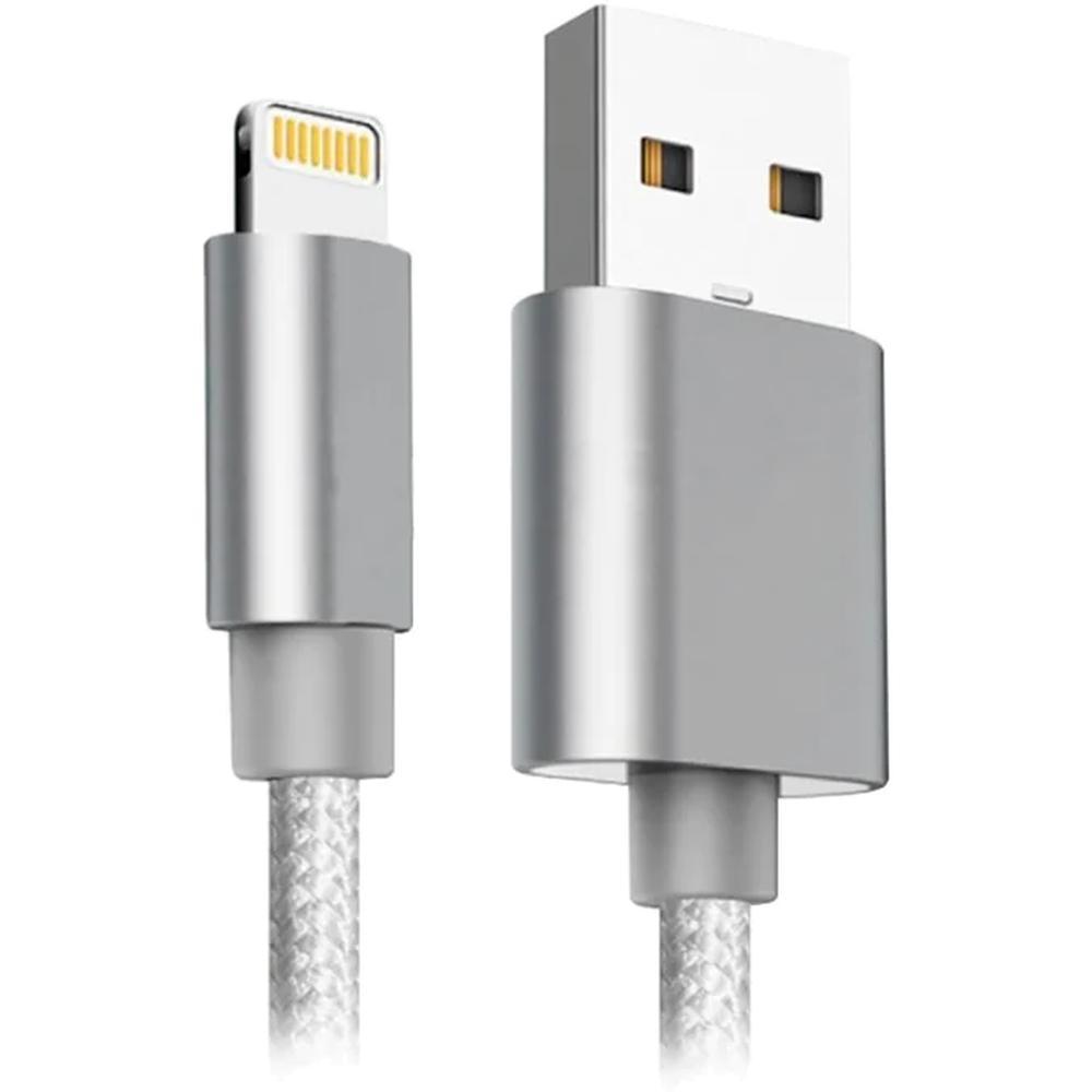 Фото - Кабель для Apple Lightning Ginzzu 1 м белый (GC-555UW) кабель для apple lightning deppa 1 5 м витой белый 72120