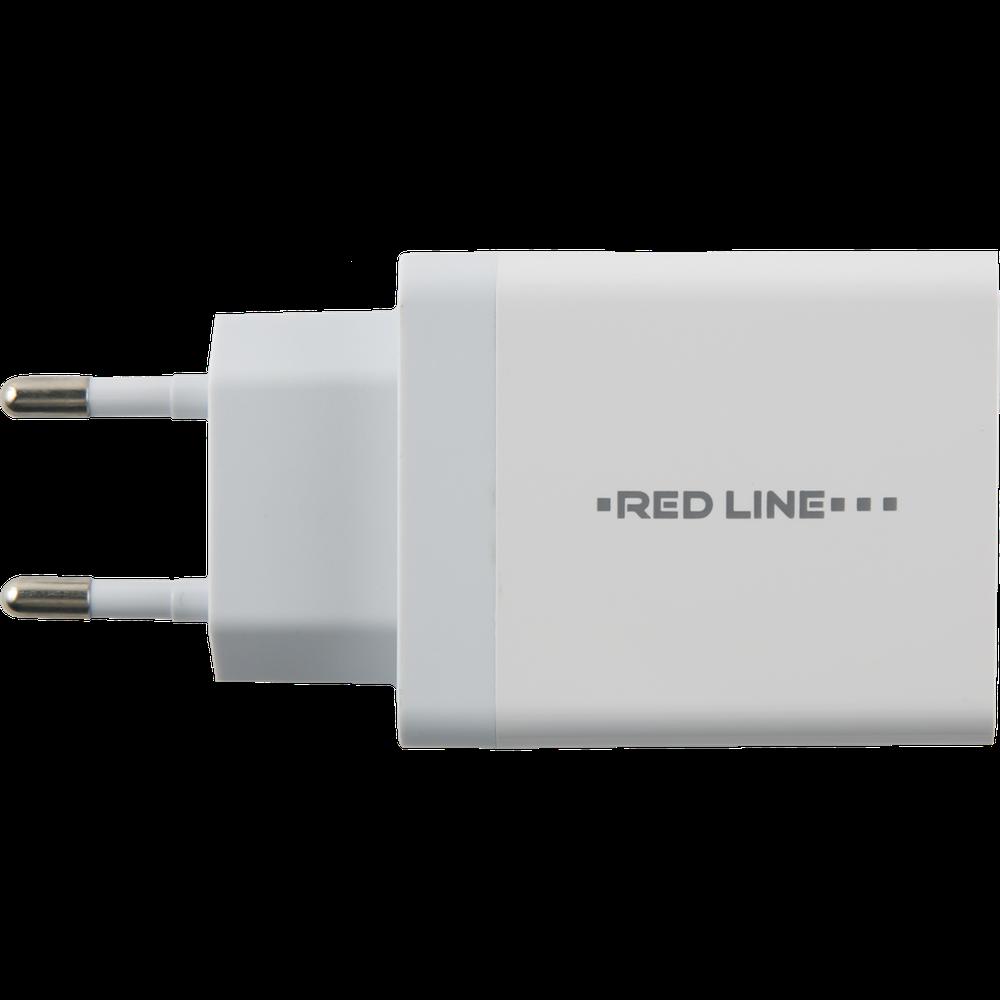 Фото - Сетевое зарядное устройство Red Line PD1-3A PD18 Type-C белый сетевое зарядное устройство deppa power delivery qc 3 0 18вт usb a type c черный 11393