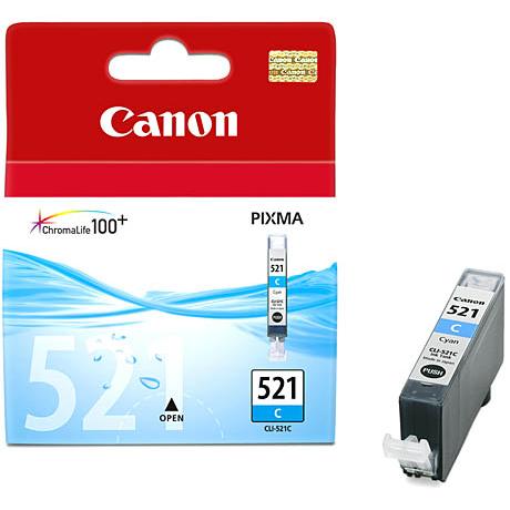 Фото - Картридж Canon CLI-521C Cyan для Pixma iP3600/4600/MP540/620/630/980 картридж canon pgi 520bk 2932b012 x2 для canon pixma ip3600 4600 mp540 620 черный