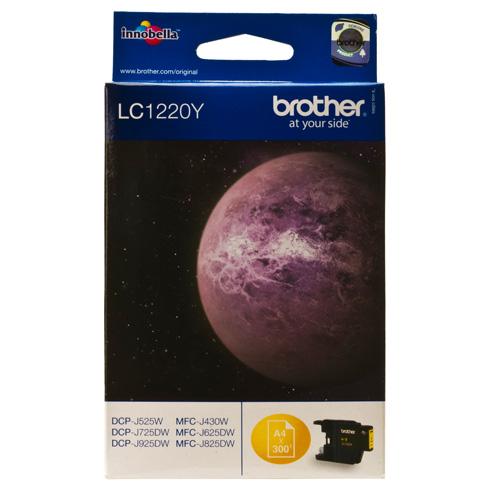 Фото - Картридж Brother LC-1220Y Yellow для DCP-J525W/MFC-J430W/MFC-J825DW (300стр) brother mfc l2700dwr серый